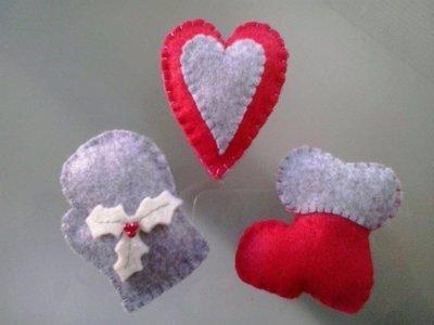 Decorazioni natalizie in pannolenci realizzate a mano!