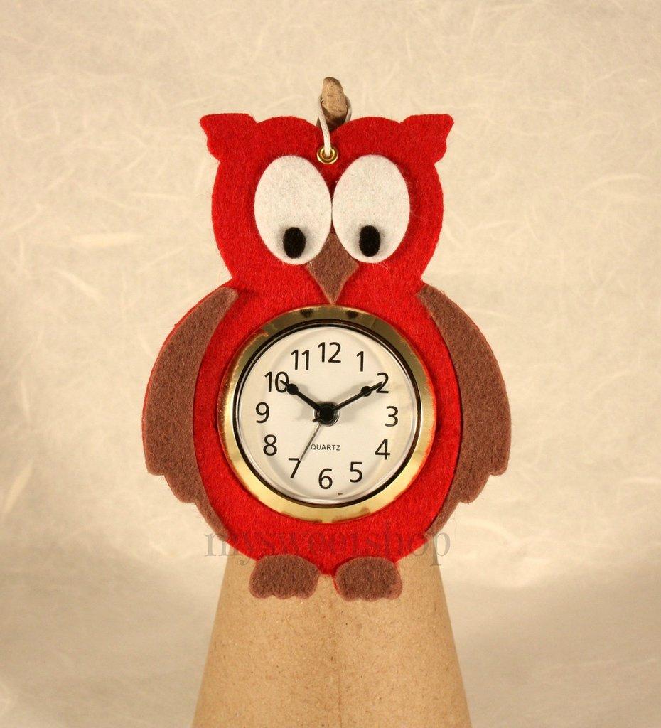 Gufo orologio per Natale e tutto l'anno