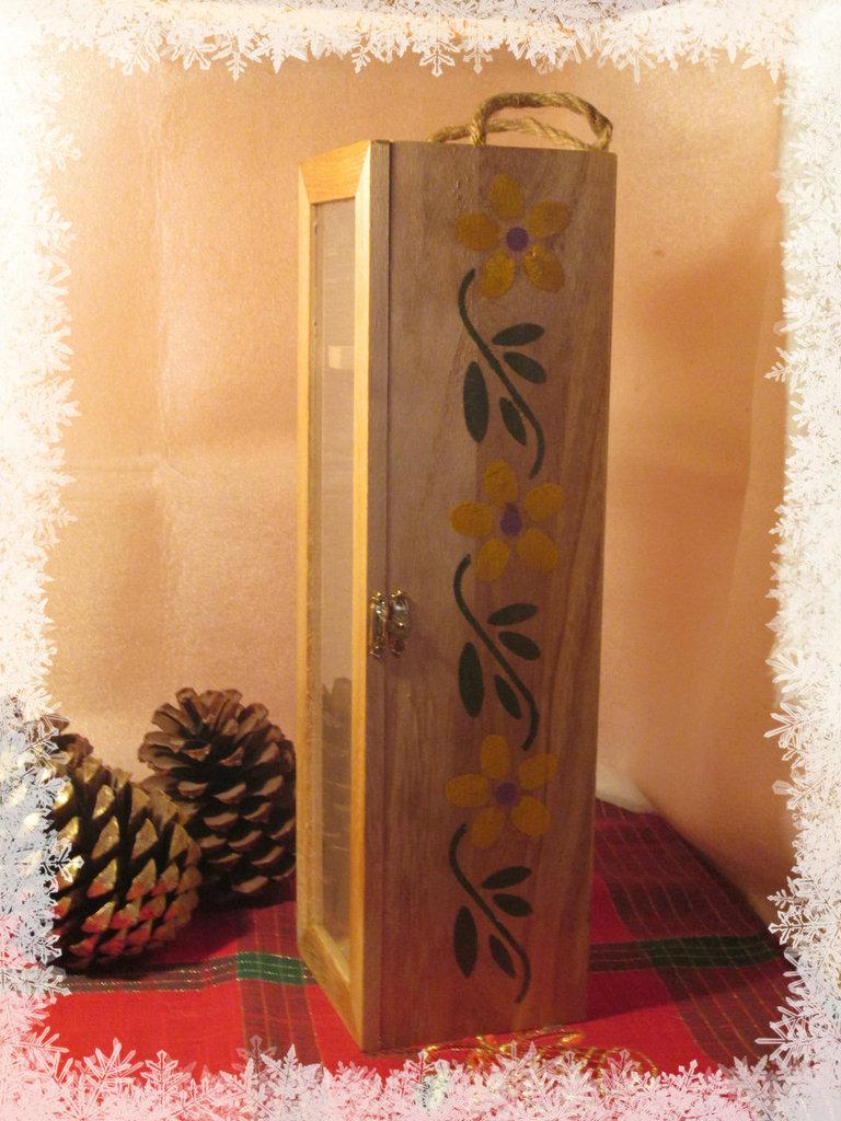 porta bottiglia legno