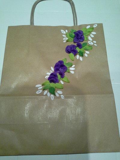 sacchetti decorati con pasta di mais,