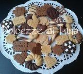 lotto stock 20 biscotti in fimo fatti a mano per decorare cornici,scatole,portafoto
