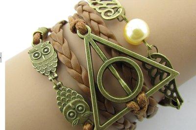 Bracciale Donna Uomo Harry Potter e i Doni della Morte Boccino d'oro fandom
