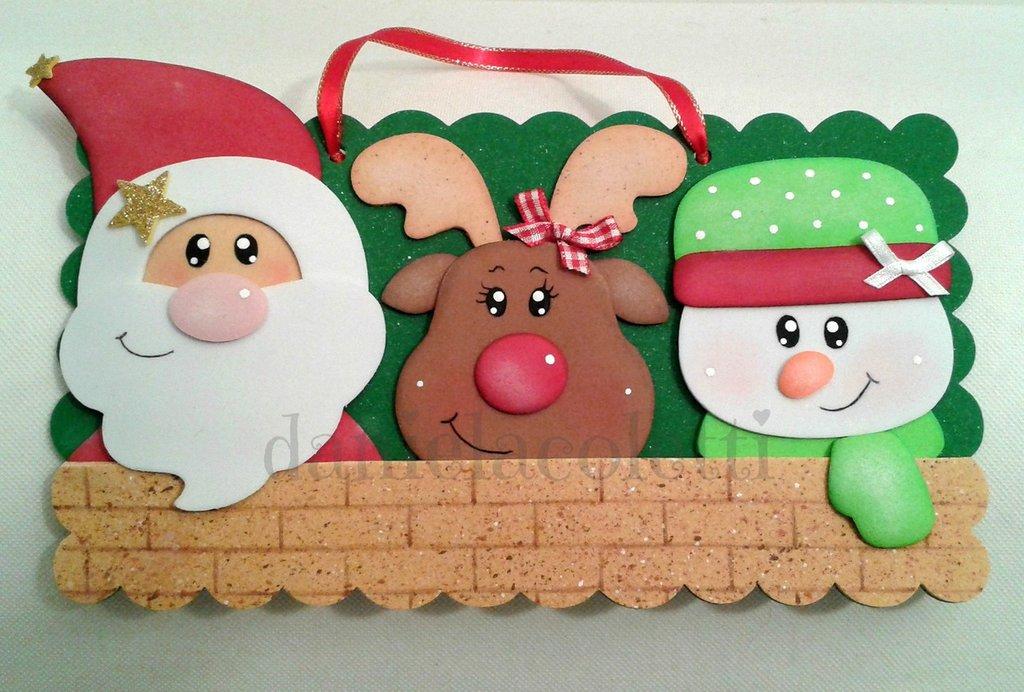 Targhetta fuori porta per Natale