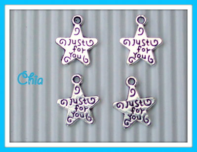 "10 charms stellina ""just for you"" vend."