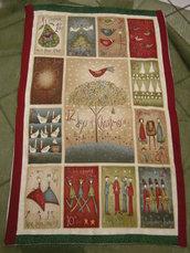 morbida coperta natalizia patchwork