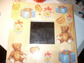 specchio legno orsi