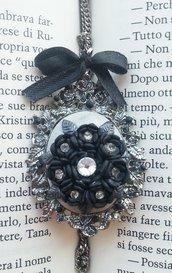 Ciondolo fiore nero
