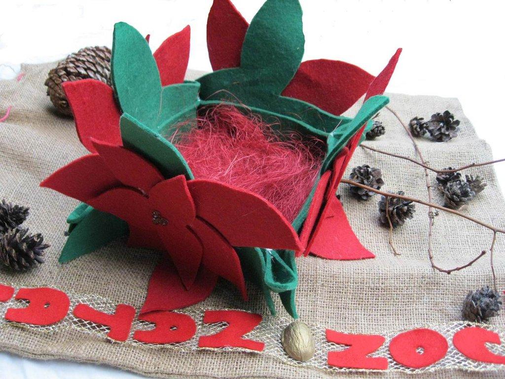 Centro-tavola natalizio in feltro