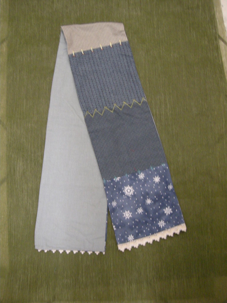 morbida sciarpa patchwork stoffa americana