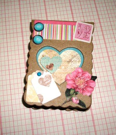 Idea Regalo^^ Scatola con Cuore Porta Appunti - Love Vintage in Scrap**
