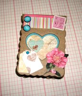 Idea Regalo^^ Scatola con Cuore Porta Appunti - Love Vintage in Scrap**