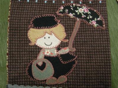 Copriforno di stoffa cucito creativo embroidery patchwork e