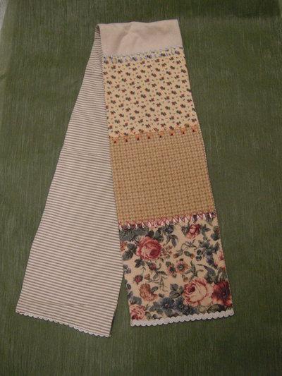 morbida sciarpa patchwork stoffa americana fantasia floreale