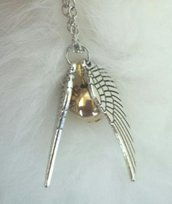 Collana Harry Potter Boccino d'oro golden Snitch fandom uomo/donna