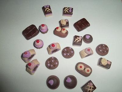 stock di dolcetti in fimo 50 pezzi