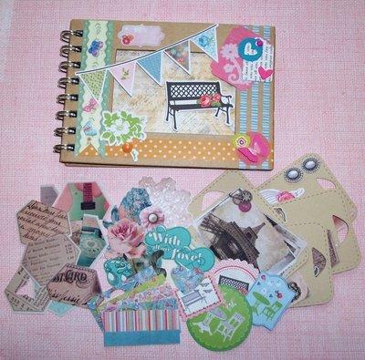 Idea Regalo^^ - Kit Creativo per Scrapbooking - *Album PortaFoto* - Sweet Vintage Set