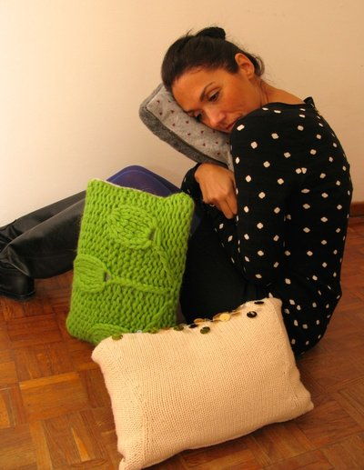 cuscini in lana fantasia