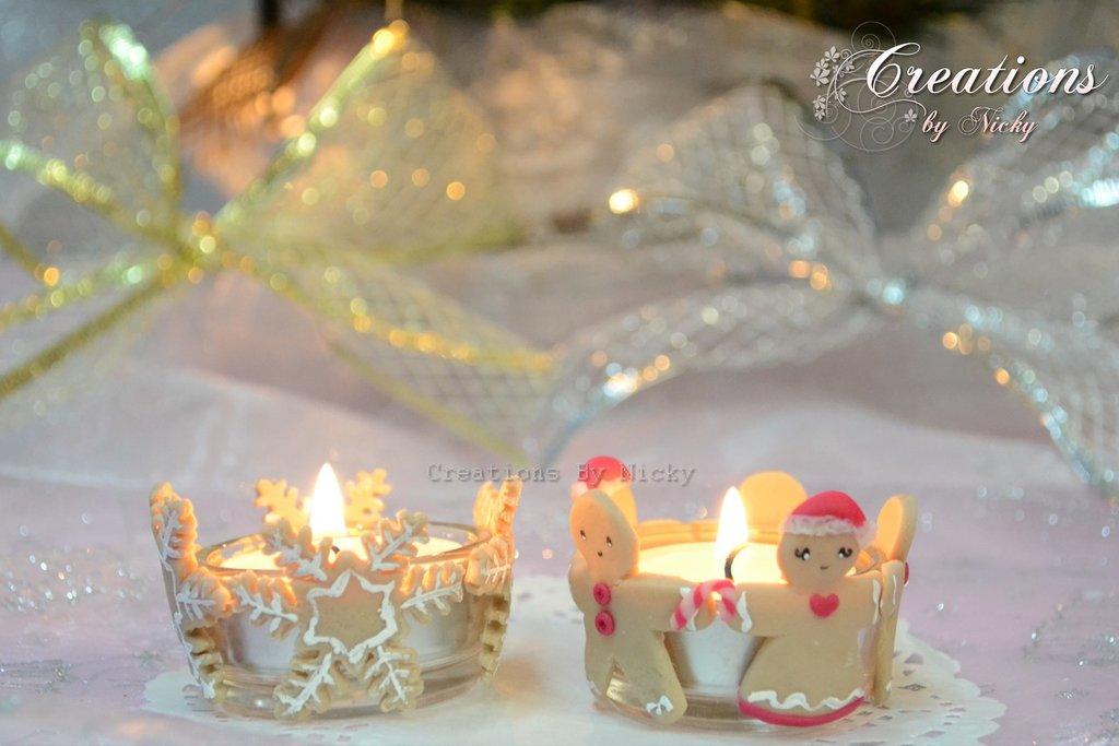 Portacandelina di Natale
