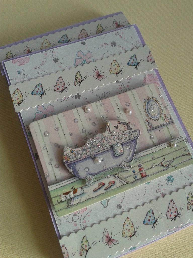 Rubrica telefonica tascabile da borsa con indice alfabetico realizzata a mano con cartoncini e carte fantasia