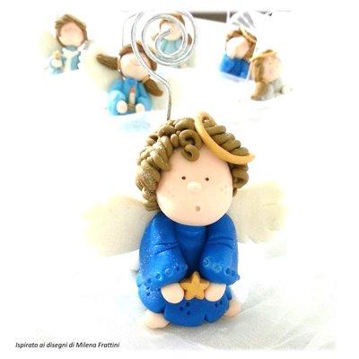 Segnaposto angelo con stellina Bomboniera Battesimo Comunione