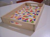 Vassoio decorato a mosaico