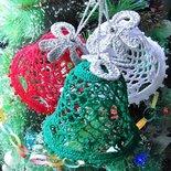 Campanelle ad uncinetto, addobbi natalizi