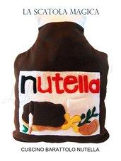 Cuscino nutella - Cuscino cibo a forma di barattolo di crema alle nocciole