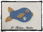 Pesce Disco Orario azzurro-beige