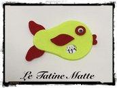 Pesce Disco Orario giallo fluo-rosso