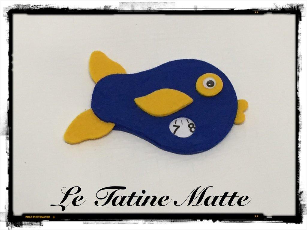 Pesce Disco Orario blu-giallo