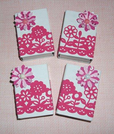 Scatoline decorate per regali - Packaging in Fucsia - Lotto (4pz)