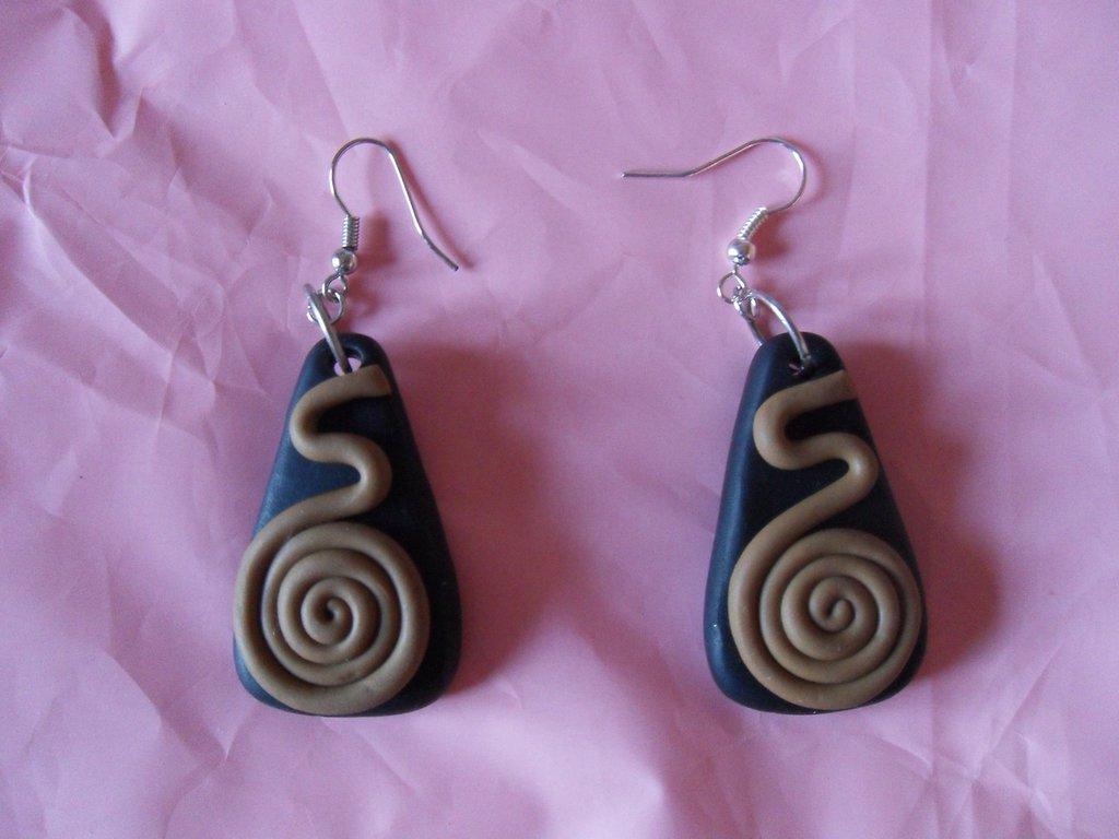 orecchini spirale etnici