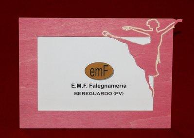 Cornice portafoto Ballerina in legno