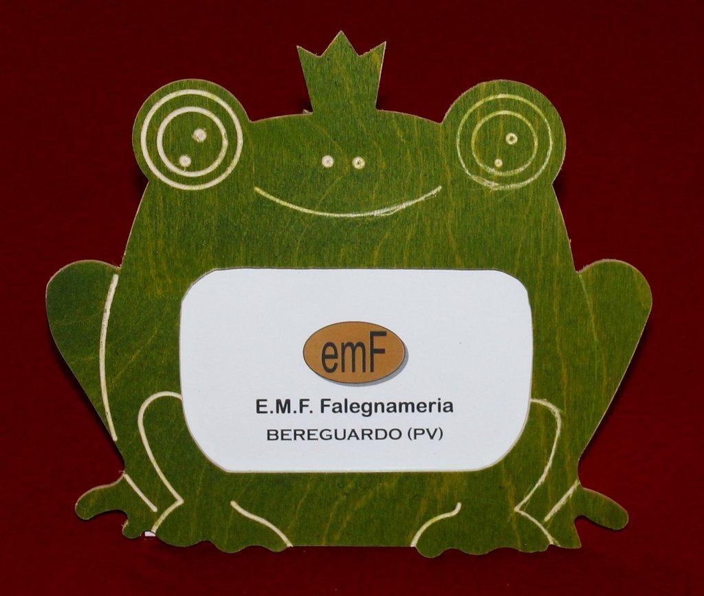 Cornice portafoto Re Ranocchio in legno