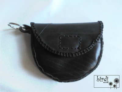Portachiavi con borsellino in camera d'aria RICICLO CREATIVO HAND MADE