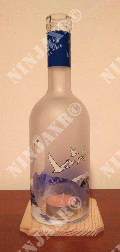 Porta Candela Vodka Grey Goose Hurricane Portacandela