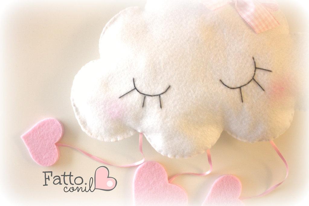 fiocco nascita nuvola personalizzabile realizzata a mano da fattoconilcuore