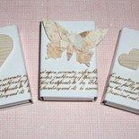 Scatoline SegnaPosto - Mini Bomboniera Porta Confetti per Matrimonio - *Shabby Chic & Vintage*