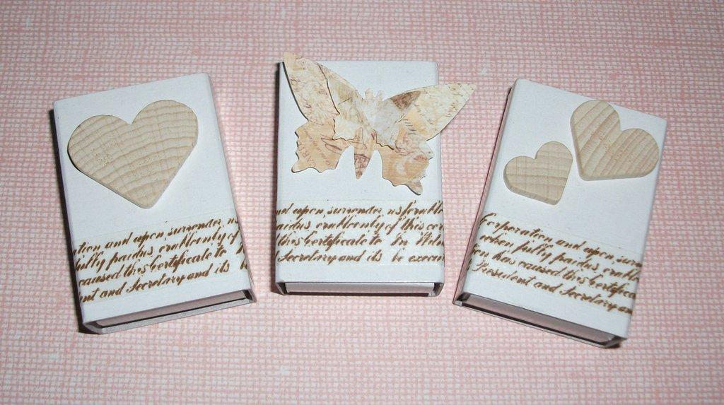 Matrimonio Shabby Chic Vintage : Scatoline segnaposto mini bomboniera porta confetti per