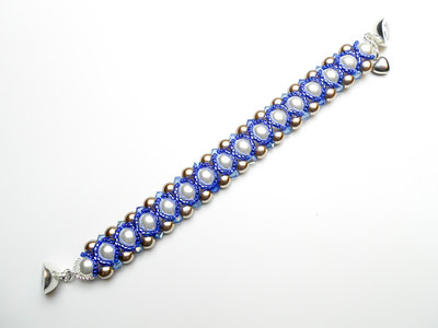 Bracciale con perle di Boemia e cristalli Isabella 07