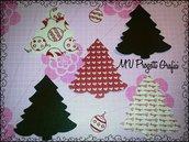 FUSTELLATO ALBERO FELTRO- CHRISTMAS TREE