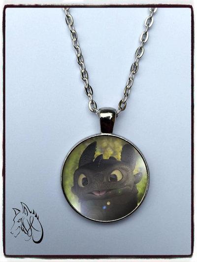 collana ispirata Toothless sdentato furia buia dragon trainer