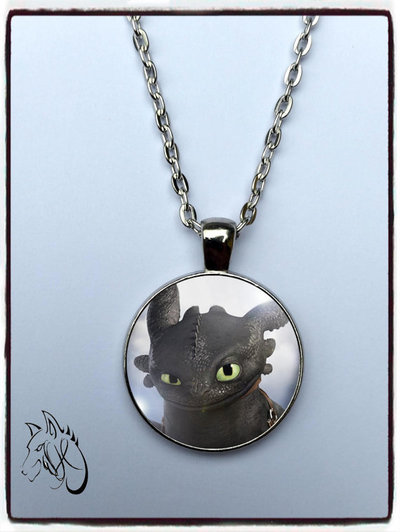 collana ispirata Toothless sdentato furia buia dragon trainer