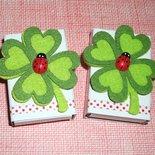 Scatoline SegnaPosto - Mini Bomboniera Porta Confetti per Laurea - *Coccinella Fortunella*
