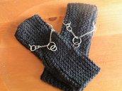 guanti gioiello senza dita