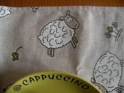 coppia tovagliette con pecorelle