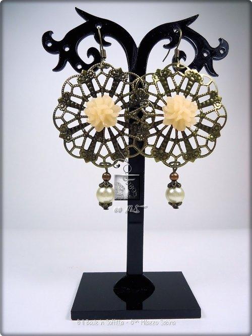 Orecchini in Filigrana con fiore e perla - Avorio