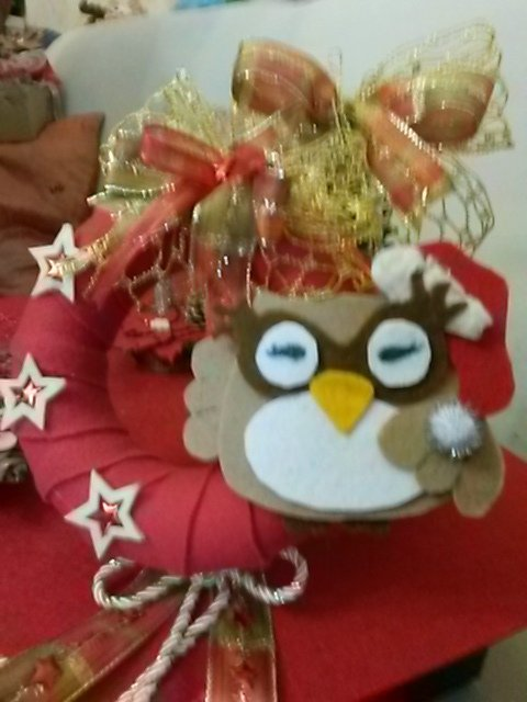 Decorazione natalizia con gufetto