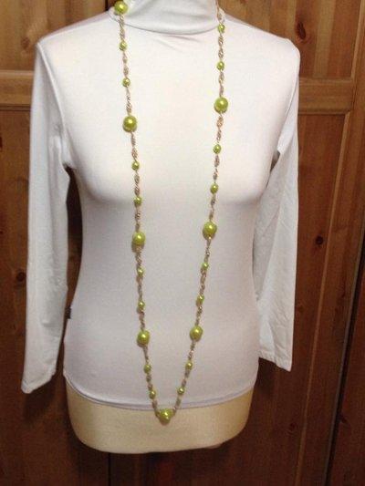 Collana lunghissima in lurex color oro