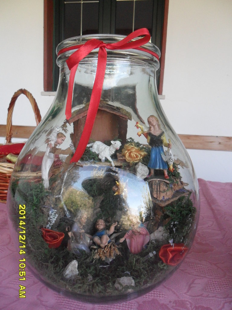 presepe in vaso natalizio
